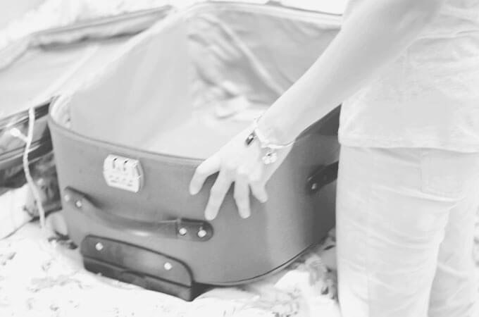 A sua mala já está pronta?