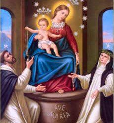 Hoje é celebrada Nossa Senhora do Rosário, auxílio dos cristãos