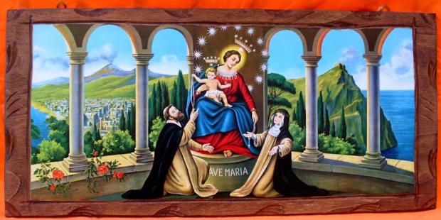 Oração indulgenciada a Nossa Senhora do Rosário de Pompéia